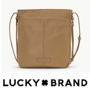 Lucky Brand leather Camel Tan Crossbody like new